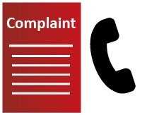 Complaint icon and a phone icon